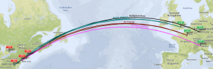 A380 routes East Coast USA to Europe