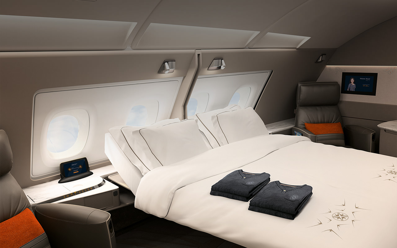 Singapore Air new A380 suites